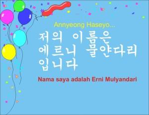 Bahasa Korea Erni Mulyandari S Blog